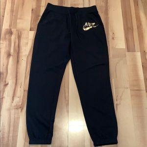 NWT Black and Gold Nike Jogger Sweatpants
